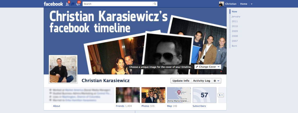 How to change your Facebook Timeline cover