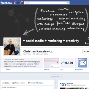 Engage with fans through your Facebook Page Timeline cover photo