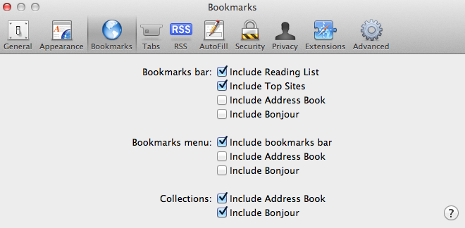 Turn off Safari Reading List in Mac OS X