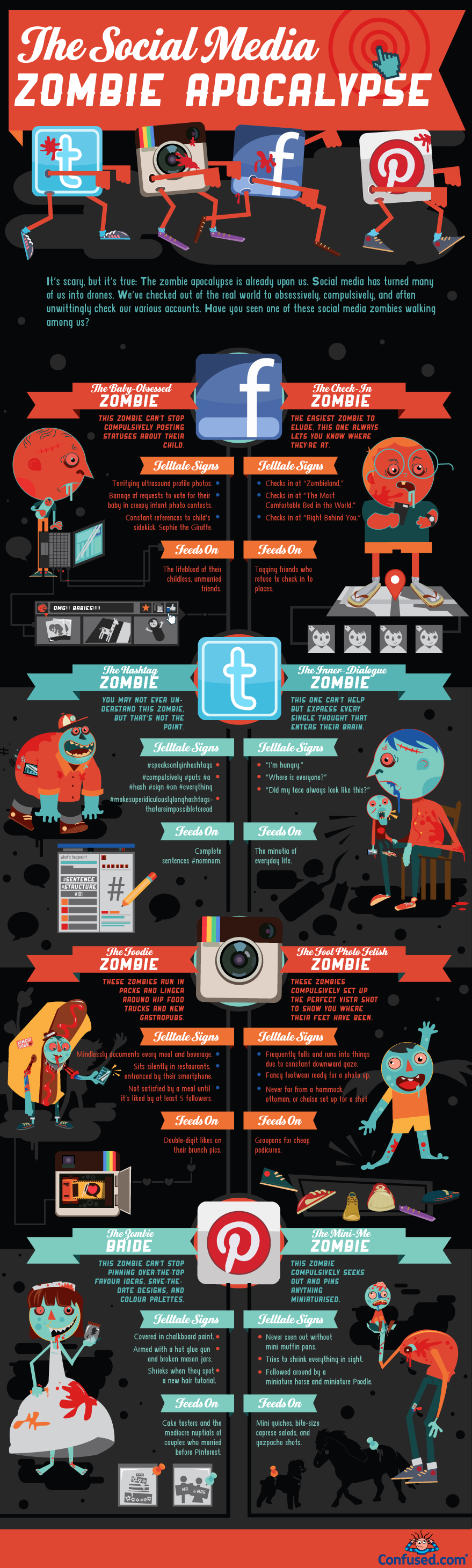 8 types of social media zombies