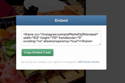 How to embed Instagram photos and videos on your blog or website