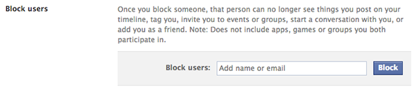 Blocking on Facebook - Users