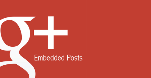 Google Plus embedded posts