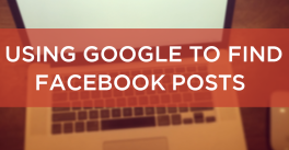 How to search Facebook posts using Google