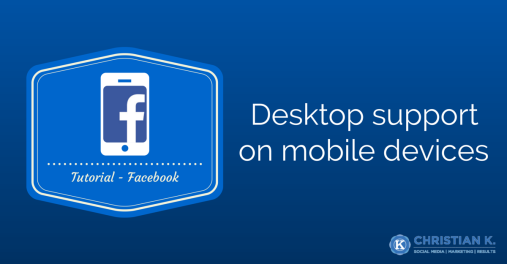 Use the request desktop site on a mobile device to request the desktop version of Facebook.