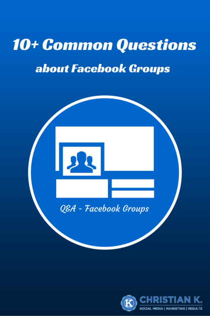 Facebook Groups questions