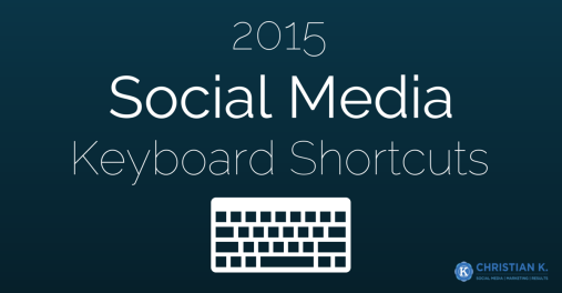 Social media keyboard shortcuts