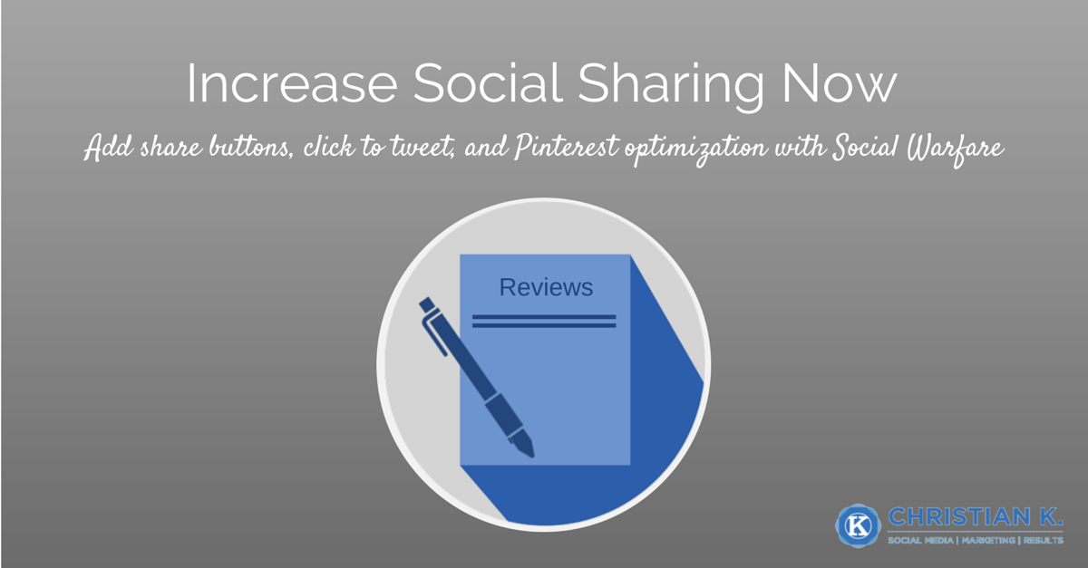 How to Boost Your Social Shares Immediately With the Social Warfare Plugin